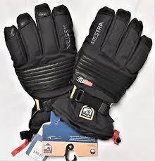 New Hestra Unisex 11 Xxl Black All Mountain Czone Gloves Winter Ski Snowboard