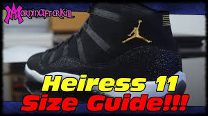 Air Jordan Shoe Size Chart I Copped Girls Shoes How Do They Fit Air Jordan 11 Heiress Extended Gs Size Fit Guide