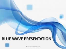 Blue Power Point Templates Free Blue Wave Powerpoint Template