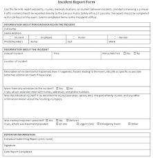 Vehicle Accident Report Form Template New Incident Unique Osha