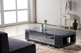 furniture modern coffee table sets black rectangle wood and