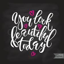 You Look Beautiful Today Quotes Best of Hand Sketched Hello Beautiful Poster Banner Template Inspirational