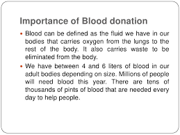 importance of blood donation importance of blood donation