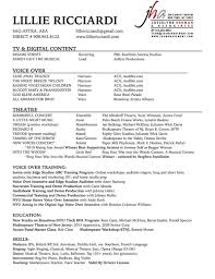 Vocal Resumes Resume And Cover Letter Resume And Cover Letter
