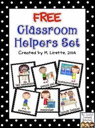 Free Classroom Job Set Classroom Jobs Preschool Classroom