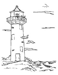 Small Picture An Old Lighthouse at the Beach Coloring Pages An Old Lighthouse