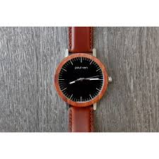 sold out paul ven the rush wood and steel watch with leather strap