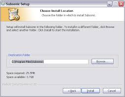 what is windows installer subsonic