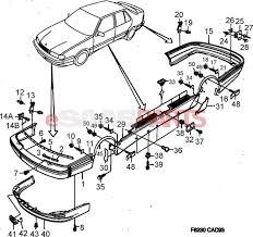 Esaabparts saab 9000 > car body external parts > body mouldings external > decor aero