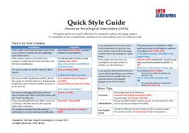 Quick Style Guide Asa By Ntu Subject Rooms Issuu