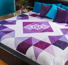 Purple Quilt Patterns to Inspire Quilting in Color & Regal color comes to life. quilt Adamdwight.com