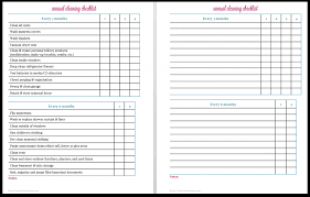 Cleaning Chart Checklist Annual Cleaning Checklist Free Printable Creative Home