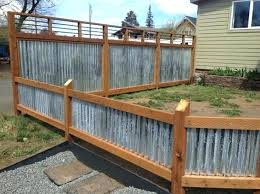home corrugated metal and wood fence ideas best for beautiful 10 corrugated metal fence ideas