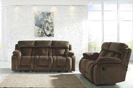 Amazoncom Ashley Stricklin Power Reclining Sofa in Chocolate