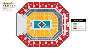 Metallica Seating Chart Metallica Golden1center