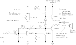 audio amplifiers schematic