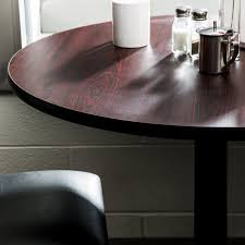 lancaster table seating 30 laminated round table top reversible cherry black