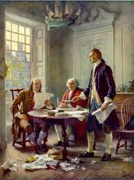 thomas paine s common sense and the declaration of independence benjamin franklin john adams and thomas jefferson writing the declaration of independence 1776