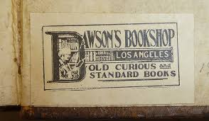 by provenance book label of dawson s book in los angeles california by provenance