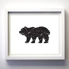 black and white bear black bear print printable bear art minimalist wall art on black and white bear wall art with black and white bear black bear print printable bear art
