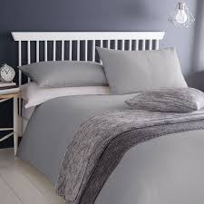 waffle polycotton duvet cover set grey hover to zoom