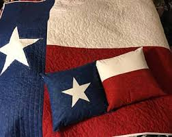 Texas flag quilt | Etsy & Texas Flag Throw Quilt with 2 pillows Adamdwight.com