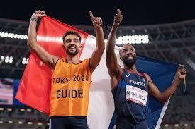 """Lucas Mathonat, guide aux Jeux Paralympiques  : """"le handisport, c'est exceptionnel, une performance de très haut niveau"""""""