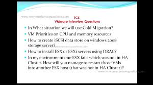 tcs vmware interview questions tcs vmware interview questions
