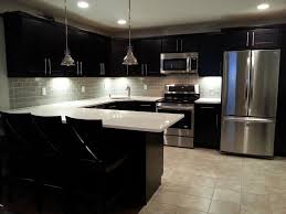 Small Picture Kitchen Admirable Black Modern Kitchen Cabinet With Twin Pendant