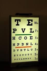 Vintage Eye Chart Light Box 30 Best Vintage Lightbox Images In 2017 Eye Chart Eye