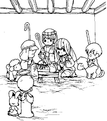 Small Picture Precious Moments Coloring Pages Nativity Maelukecom