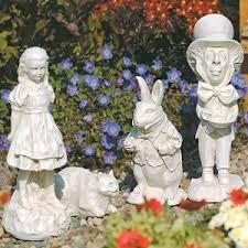 garden figures. Alice In Wonderland Garden Statues-adorable Figures R