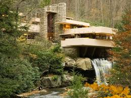 Frank Lloyd Wright's Kaufmann House, also known as Fallingwater, in Mill  Run, Pennsylvania