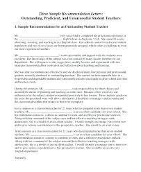 Letters Of Recommendations For Teachers Letter Of Recommendation For Teacher Coworker Sample To Students