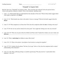 four paragraph irony essay guiding questions 1 2 3 4 5 6 7 ldquomarigoldsrdquo by eugenia