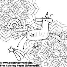 Unicorn Flower Mandalas Coloring Page 658 Coloring By Miki