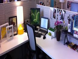 Home Office Ideas:Fresh Office Decor With Flower Great Office Design With L  Shaped Cubicle