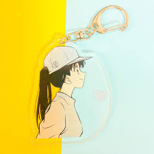 Mica trong acrylic ) Móc khóa CONAN DETECTIVE RAN LOVE SHINICHI quà tặng  xinh xắn dễ thương in hình anime chibi giá cạnh tranh
