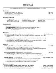 San Diego Resume Unique Leon Tran Resume