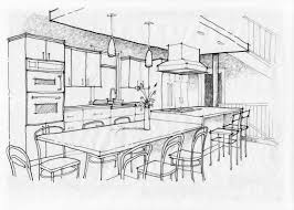 interior design kitchen drawings. Simple Interior Interior Design Kitchen Drawings On Perfect Drawn Sketch 1 To Y