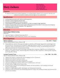 Basic Medical Assistant Resume Sample
