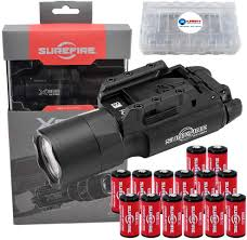 Surefire X300u A Ultra High Output 1000 Lumens Led Weapon Light With 12 Extra Cr123a Batteries And 3 Lightjunction Battery Cases