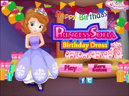 sofia the first princess sofia birthday dress dress up game