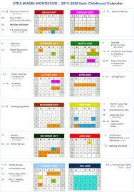 19 20 Early Childhood Calendar