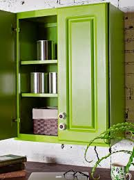 ci brian flynn green painted wall cabinet s3x4
