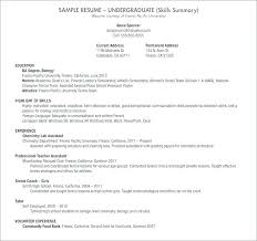 Resume Samples For College Students Inspirational High School
