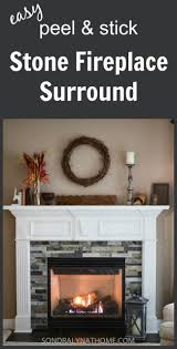 easy diy stone fireplace surround sondra lyn at