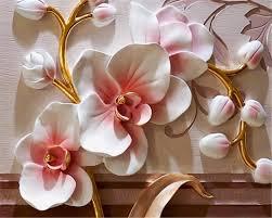Beibehang Foto Behang 3d Phalaenopsis Relief Muur Moderne Mode