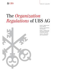 Ubs Organizational Chart Form 6 K