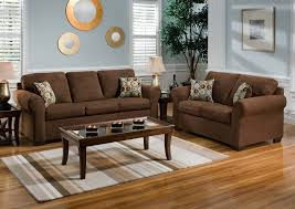 Western Couches Living Room Furniture Living Room L Shaped Brown Fabric Sofa With Grey Pattern Cushions
